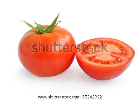 Tomato and slices - stock photo