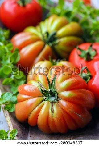 """Tomato """"Cuore di Bue"""" - stock photo"""