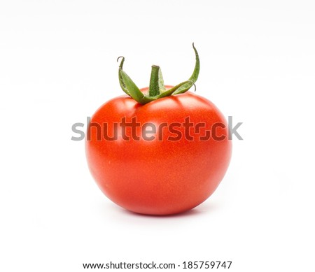 Tomato isolated on a white background.   - stock photo