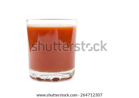 tomato juice in a glass - stock photo