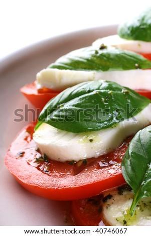 Tomato Mozzarella Caprese - stock photo