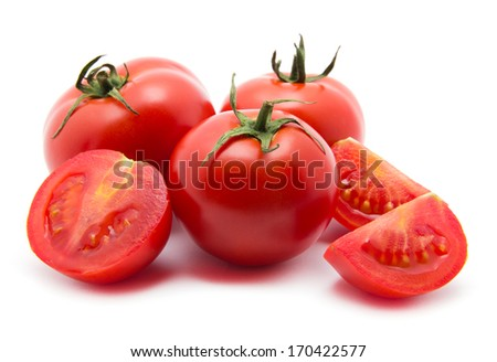 tomato on white - stock photo