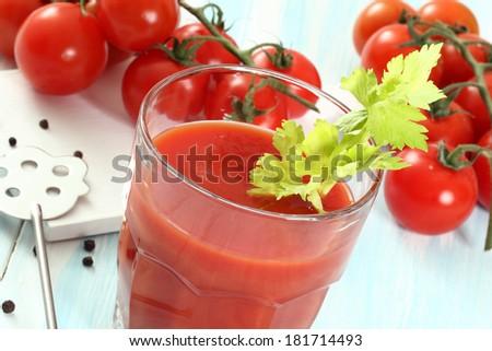 tomato smoothie - stock photo