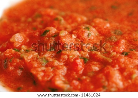 tomato souce red hot - stock photo