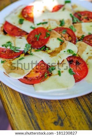 Tomatoe and Mozzarella - stock photo