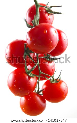 Tomatoes cherry isolated on white background - stock photo