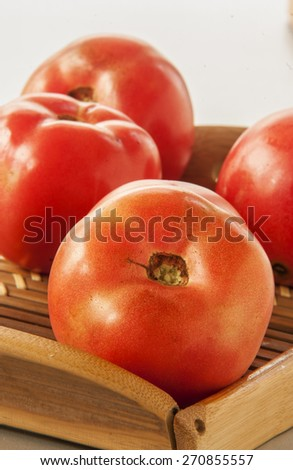 tomatoes close up - stock photo