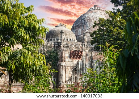 Tomb in Lodi Garden, New Delhi, India - stock photo
