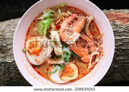 Tomyum noodle yummy - stock photo