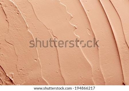 Tone foundation texture - stock photo