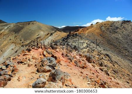 Tongariro Trek - stock photo