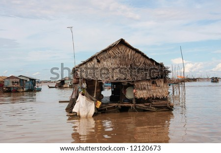 Tonle Sap lake, Cambodia - stock photo
