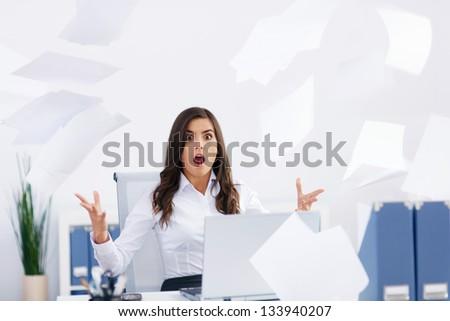 Too much work - stock photo