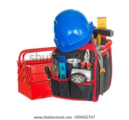 Tool box . isolated - stock photo