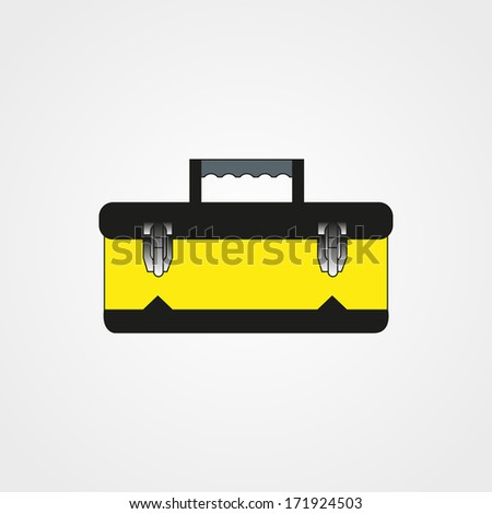 Tool Box  Isolated on White Background Raster - stock photo