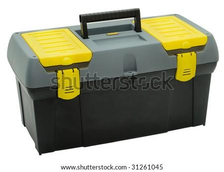 Toolbox isolated on white background - stock photo
