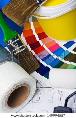 tools and accessories for home renovation   - stock photo