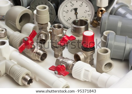 tools and mechanisms detail on the background of technical drawings - stock photo