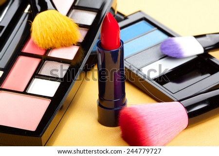 Tools for makeup. - stock photo