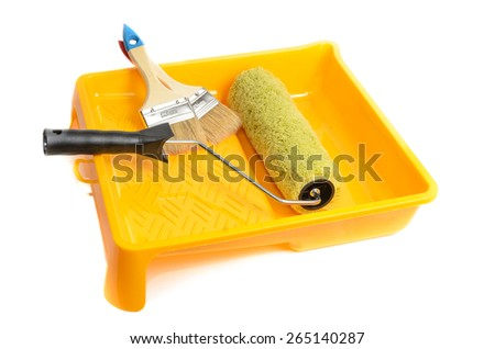 Tools for painting houses. Microstock photography for over a white background - stock photo