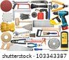 Tools for wood, metal and other construction work. - stock photo