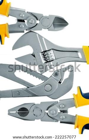 Tools isolated on white background. - stock photo