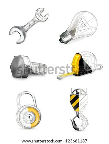 Tools set bitmap copy - stock photo