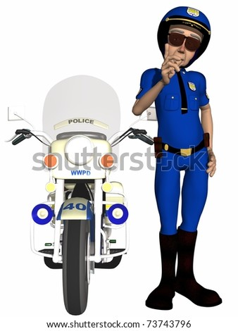 Toon Police Officer - stock photo