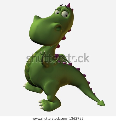 Toonimal Dragon - stock photo