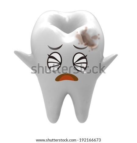 Tooth - cavity - stock photo