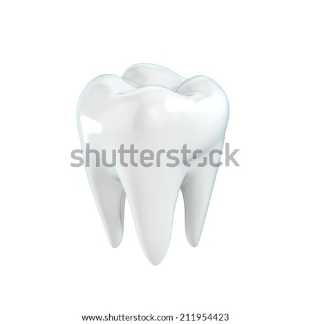 tooth 3d illustration  - stock photo