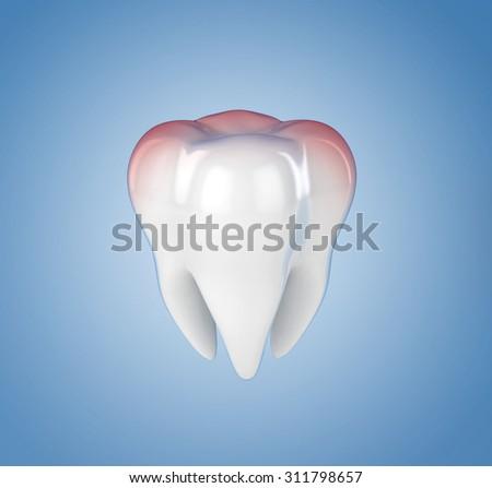 toothache 3d illustration - stock photo