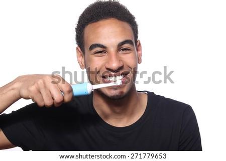 Toothbrush Boy - stock photo