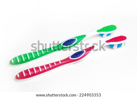 toothbrush for hygiene cavity mouth - stock photo