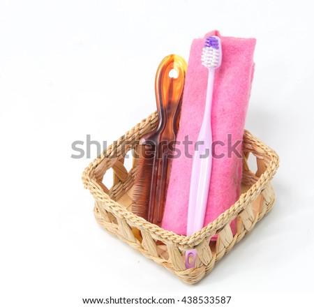 Toothbrushs set - stock photo