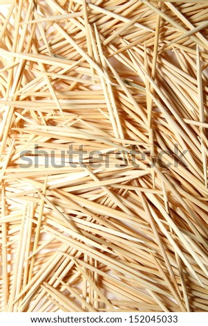 Toothpicks on a white background. - stock photo