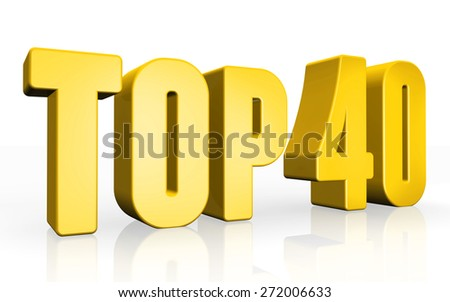 Top 40 - 3d illustration on white background - stock photo