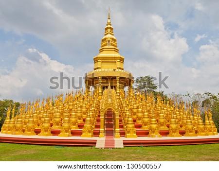 Top five hundred pagodas in Wat pasawangboon Saraburi, Thailand - stock photo
