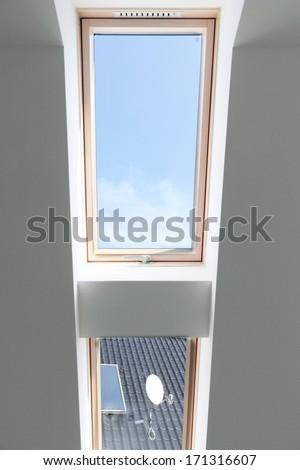 top-hung window - stock photo