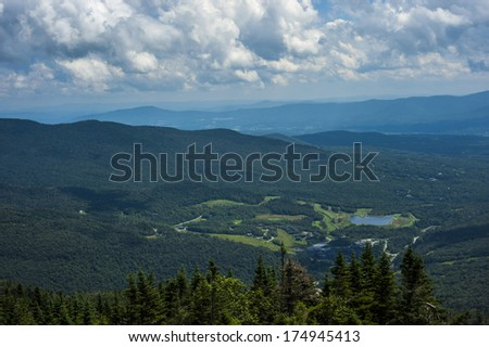 Top of Mount Mansfield in Vermont - stock photo