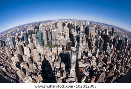 Top of New York - stock photo