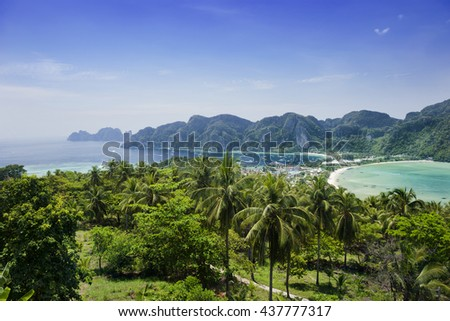 Top of Phi Phi island ,Thailand - stock photo
