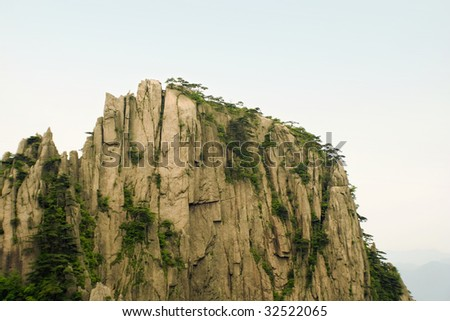 top of the mountains - stock photo