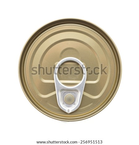 Top of view can isolated on white background - stock photo