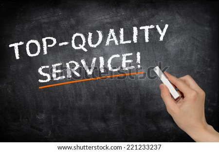 Top-quality service - stock photo
