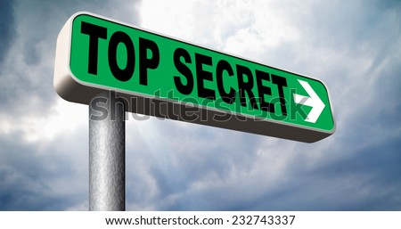 top secret file confidential and classified secrecy restricted information - stock photo