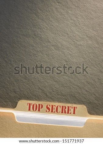 Top secret file folder on background - stock photo