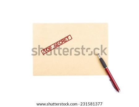 Top secret letter - stock photo