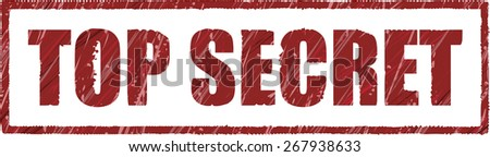 top secret stamp with big bold letters - stock photo