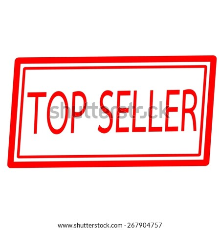 Top seller red stamp text on white - stock photo